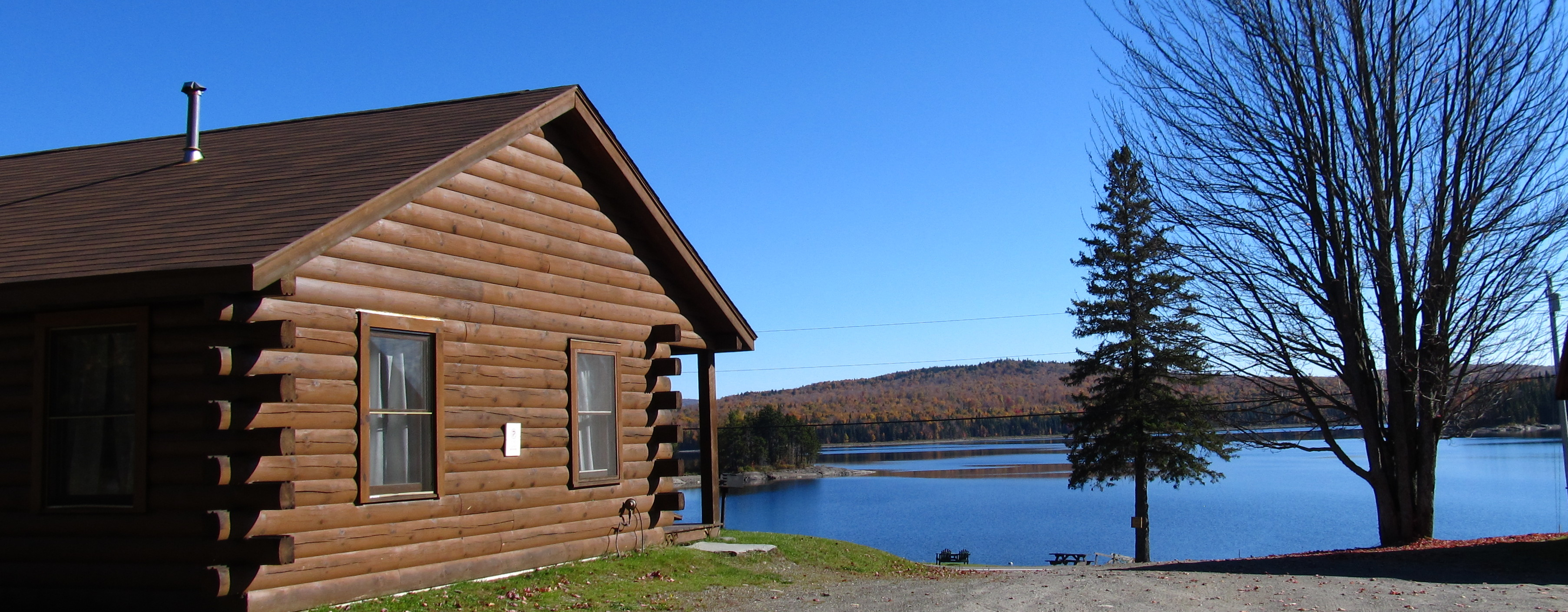 Three Bedroom Log Cabin On First Connecticut Lake
