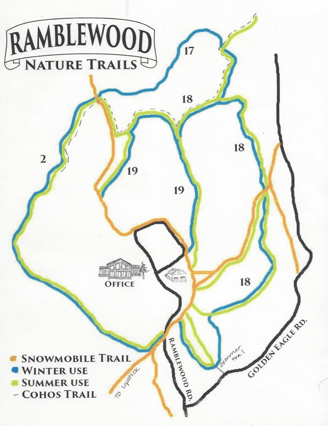 trail map 15 - Ramblewood Cabins & Campground on