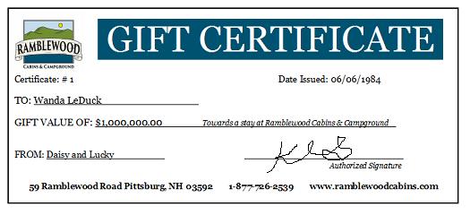 Buy Gift Certificates Online